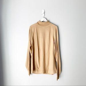 Vintage men's Lord Jeff brown turtleneck sweater